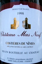 Château Mas Neuf 1998 Costières de Nîmes